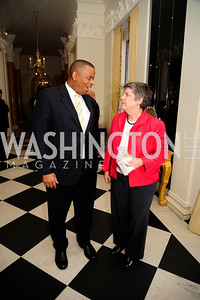 Sec.Anthony Foxx, Sec.Janet Napolitano,July 25,2013,Reception in Celebration of the birth of HRH Prince George of Cambridge at the Residence of The British Ambassador,Kyle Samperton