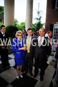 Ina Ginsburg,James Adams,Japanese Amb.Kenchiro Sasae,July 25,2013,Reception in Celebration of the birth of HRH Prince George of Cambridge at the Residence of The British Ambassador,Kyle Samperton