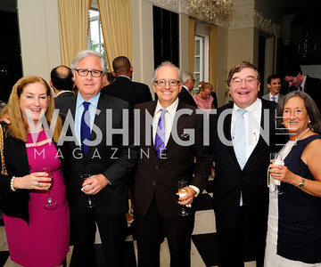 Amy Nathanson,Howard Fineman,Norm Ornstein,Charlie Cook,Judy Harris,July 25,2013,Reception in Celebration of the birth of HRH Prince George of Cambridge at the Residence of The British Ambassador,Kyle Samperton