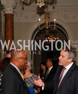Kurt Schmoke,British Amb.Sir Peter Westmacott,July 25,2013,Reception in Celebration of the birth of HRH Prince George of Cambridge at the Residence of The British Ambassador,Kyle Samperton