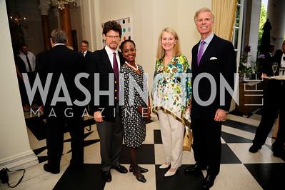 Steven Beller,Esther Brimmer,Fred Ryan ,Genny Ryan,,July 25,2013,Reception in Celebration of the birth of HRH Prince George of Cambridge at the Residence of The British Ambassador,Kyle Samperton
