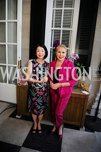 Nobuko Sasae,Gillan Corn,July 25,2013,Reception in Celebration of the birth of HRH Prince George of Cambridge at the Residence of The British Ambassador,Kyle Samperton