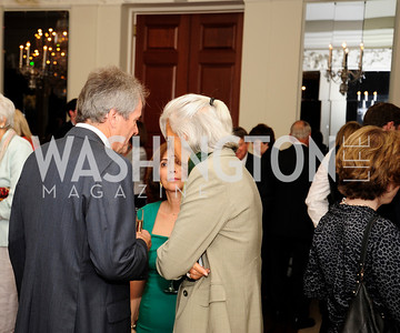 British Amb.Sir Peter Westmacott, Lady Westmacott,Christine Lagarde,July 25,2013,Reception in Celebration of the birth of HRH Prince George of Cambridge at the Residence of The British Ambassador,Kyle Samperton