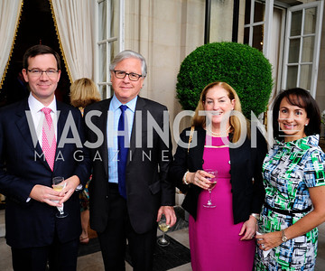 Robert Allbritton,Howard Fineman,Amy Nathanson,Elena Allbritton,July 25,2013,Reception in Celebration of the birth of HRH Prince George of Cambridge at the Residence of The British Ambassador,Kyle Samperton