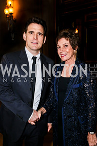 Matt Dillon, Maureen Orth. Photo by Tony Powell. Refugees International Anniversary Dinner. Mellon Auditorium. May 2, 2013