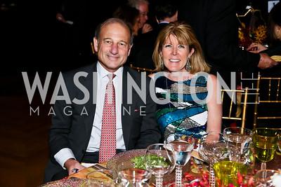 Paul Zevnik and Ginny Grenham. Photo by Tony Powell. Refugees International Anniversary Dinner. Mellon Auditorium. May 2, 2013