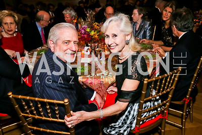 Jim Gale, Willee Lewis. Photo by Tony Powell. Refugees International Anniversary Dinner. Mellon Auditorium. May 2, 2013