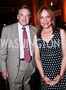 John Pyles and Barbara Harrison. Photo by Tony Powell. Refugees International Anniversary Dinner. Mellon Auditorium. May 2, 2013