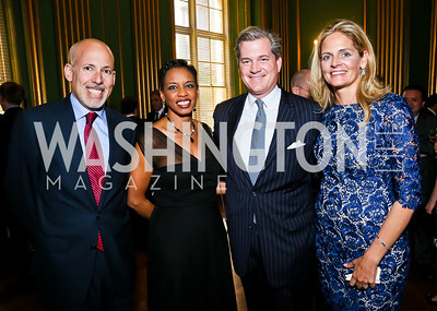 Douglas Smith, Rep. Donna Edwards, Nels and Kristen Olson. Photo by Tony Powell. Refugees International Anniversary Dinner. Mellon Auditorium. May 2, 2013