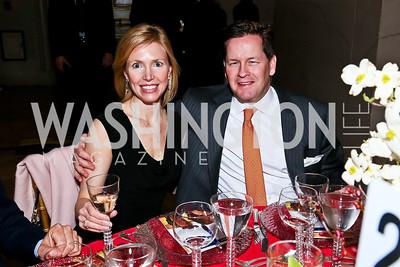 Liz and Paul Dougherty. Photo by Tony Powell. Refugees International Anniversary Dinner. Mellon Auditorium. May 2, 2013
