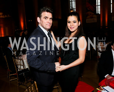 Matt Dillon, Athena Romaine. Photo by Tony Powell. Refugees International Anniversary Dinner. Mellon Auditorium. May 2, 2013