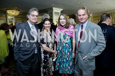 Andrew Cockburn, Gail Percy, Leslie Cockburn, Wade Davis. Roy Pfautch Dinner Honoring the new Ambassador of Japan. Willard Hotel. June 11, 2013
