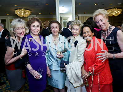 Lynda Webster, Alma Gildenhorn, Lucky Roosevelt, Ina Ginsburg, Gail West, Dorothy McSweeney. Photo by Tony Powell. Roy Pfautch Dinner Honoring the new Ambassador of Japan. Willard Hotel. June 11, 2013