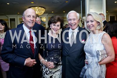 Buck and Sally Chapoton, Mandy and Mary Ourisman. Photo by Tony Powell. Roy Pfautch Dinner Honoring the new Ambassador of Japan. Willard Hotel. June 11, 2013