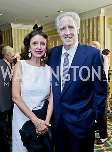 Aniko Gaal Schott and Nash Schott. Roy Pfautch Dinner Honoring the new Ambassador of Japan. Willard Hotel. June 11, 2013