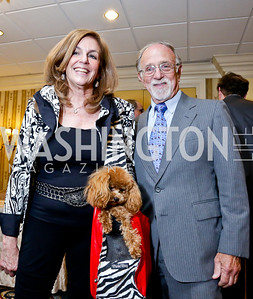 Karen Feld, Arthur Rubenstein. Photo by Tony Powell. Roy Pfautch Dinner Honoring the new Ambassador of Japan. Willard Hotel. June 11, 2013