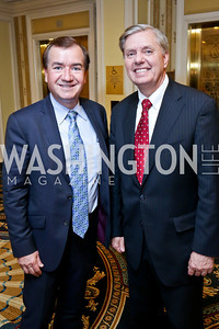 Rep. Ed Royce, Sen. Lindsey Graham. Photo by Tony Powell. Roy Pfautch Dinner Honoring the new Ambassador of Japan. Willard Hotel. June 11, 2013