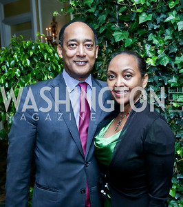 Prince Ermias Sahle Selassie and Saba Kebede. Photo by Tony Powell. Roy Pfautch Dinner Honoring the new Ambassador of Japan. Willard Hotel. June 11, 2013