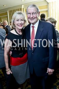 Lynda and William Webster. Photo by Tony Powell. Roy Pfautch Dinner Honoring the new Ambassador of Japan. Willard Hotel. June 11, 2013