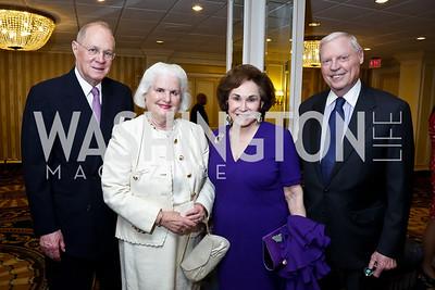 Justice Anthony and Mary Kennedy, Alma and Joe Gildenhorn. Photo by Tony Powell. Roy Pfautch Dinner Honoring the new Ambassador of Japan. Willard Hotel. June 11, 2013