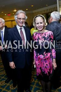 Julian Raby, Ann Nitze. Photo by Tony Powell. Roy Pfautch Dinner Honoring the new Ambassador of Japan. Willard Hotel. June 11, 2013