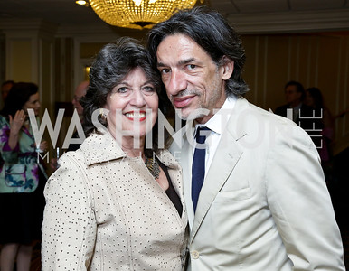 Carol Schwartz, Septime Webre. Photo by Tony Powell. Roy Pfautch Dinner Honoring the new Ambassador of Japan. Willard Hotel. June 11, 2013