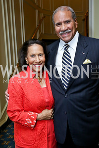 Gail and Togo West. Photo by Tony Powell. Roy Pfautch Dinner Honoring the new Ambassador of Japan. Willard Hotel. June 11, 2013
