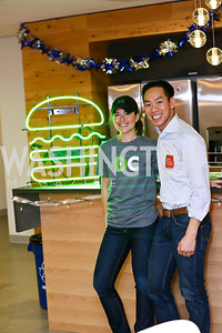Shake Shack's Jenny Conrad, Allan Ng. Photo by Tony Powell. A Holiday Cookie Party. Share Our Strength Headquarters. December 14, 2013
