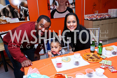 Malik Edwards, Kayla Edwards and Narda Newby Edwards. Photo by Tony Powell. A Holiday Cookie Party. Share Our Strength Headquarters. December 14, 2013