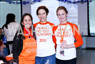 Maya Mahoney, Laura Goodman, Mallory Kilfoyle. Photo by Tony Powell. A Holiday Cookie Party. Share Our Strength Headquarters. December 14, 2013