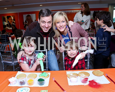 Alice, Jake, Jennifer and Jack Tapper. Photo by Tony Powell. A Holiday Cookie Party. Share Our Strength Headquarters. December 14, 2013