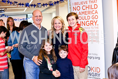 Dave, Sophie Rose, Jamie, Robert and Beckett Dorros. Photo by Tony Powell. A Holiday Cookie Party. Share Our Strength Headquarters. December 14, 2013