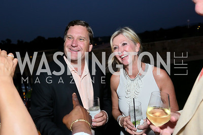 Bill and Michelle Dunavant. Photo by Tony Powell. Sheila Johnson's family and friends launch of Salamander Resort & Spa. August 29, 2013