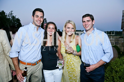 John Cooper, Sara Schwarzwalder, Anna Gurvich, Jeff Hadzima. Photo by Tony Powell. Sheila Johnson's family and friends launch of Salamander Resort & Spa. August 29, 2013