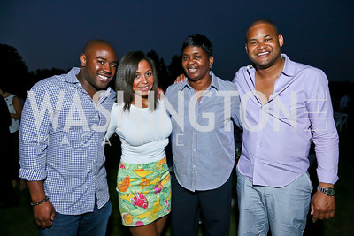 Brett Johnson, Jessie Barnes, Patrice and Corey Printup. Photo by Tony Powell. Sheila Johnson's family and friends launch of Salamander Resort & Spa. August 29, 2013