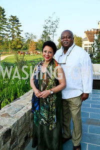 Sheila Johnson and William Newman. Photo by Tony Powell. Sheila Johnson's family and friends launch of Salamander Resort & Spa. August 29, 2013