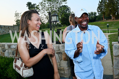 Meia Gaskin, David Marshall. Photo by Tony Powell. Sheila Johnson's family and friends launch of Salamander Resort & Spa. August 29, 2013