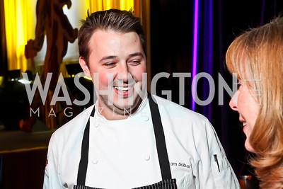 Bourbon Steak Executive Chef Adam Sobel. Photo by Tony Powell. 2013 St. Jude Gourmet Gala. Building Museum. February 12, 2013