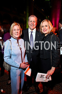 Lynn Shadyac, John and Betty Ann Tanner. Photo by Tony Powell. 2013 St. Jude Gourmet Gala. Building Museum. February 12, 2013