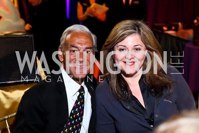 Rick Shadyac, Wife of the Lebanese Ambassador Nicole Saba. Photo by Tony Powell. 2013 St. Jude Gourmet Gala. Building Museum. February 12, 2013