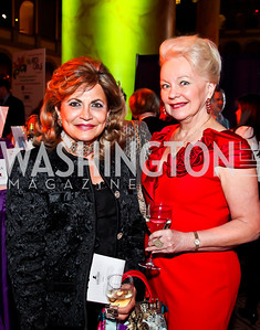 Annie Totah, Carole Margaret Randolph. Photo by Tony Powell. 2013 St. Jude Gourmet Gala. Building Museum. February 12, 2013