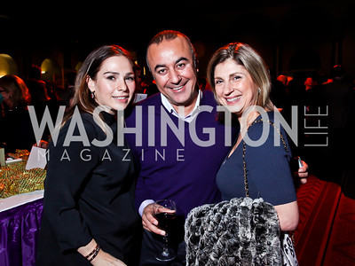 Hande and Shwan Kassim, Fariba Jahanbani. Photo by Tony Powell. 2013 St. Jude Gourmet Gala. Building Museum. February 12, 2013