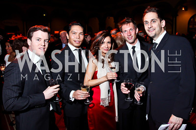 Joseph Colao, Paolo Catilo, Jossie Ali, Justin DeVinney, Chris Guthrie. Photo by Tony Powell. 2013 St. Jude Gourmet Gala. Building Museum. February 12, 2013