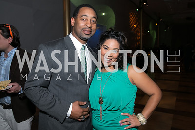 Donnell Troy Sr., Kimberly Troy. Photo by Alfredo Flores. Standing Ovation for DC Teachers. Kennedy Center Concert Hall. November 5, 2013