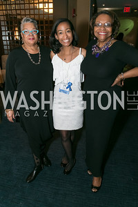 Marialice Whilliams, Paige Hoffman, Lillah Jackson Wesley. Photo by Alfredo Flores. Standing Ovation for DC Teachers. Kennedy Center Concert Hall. November 5, 2013