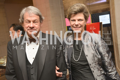 Steve Roberts, Cokie Roberts, Steven Spielberg at the National Archives. November 19, 2013.  Photo by Ben Droz.