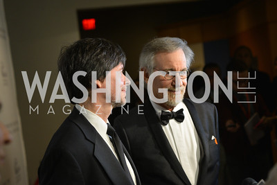 Ken Burns, Steven Spielberg, Steven Spielberg at the National Archives. November 19, 2013.  Photo by Ben Droz.