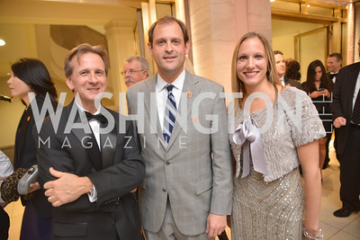 John Hamilton, Congressman Andy Barr, Julie Agurkis, Congressman Andy Barr, Steven Spielberg at the National Archives. November 19, 2013.  Photo by Ben Droz.