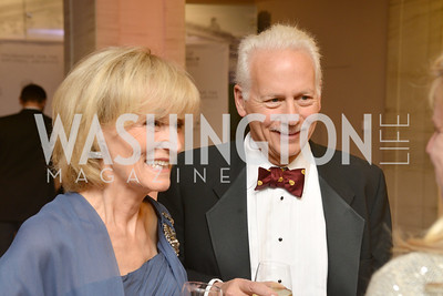 Carol Edelman, Ken Adelman, Steven Spielberg at the National Archives. November 19, 2013.  Photo by Ben Droz.