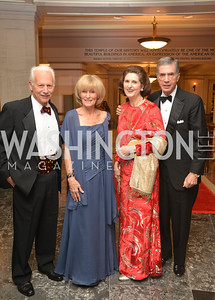 Ken Adelman, Carol Adelman, Linda Robb, Senator Chuck Robb, Steven Spielberg at the National Archives. November 19, 2013.  Photo by Ben Droz.